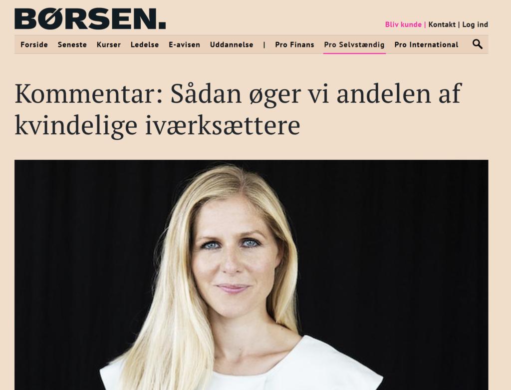 Borsen, Helle Rosendahl, flere kvindelige iværksættere