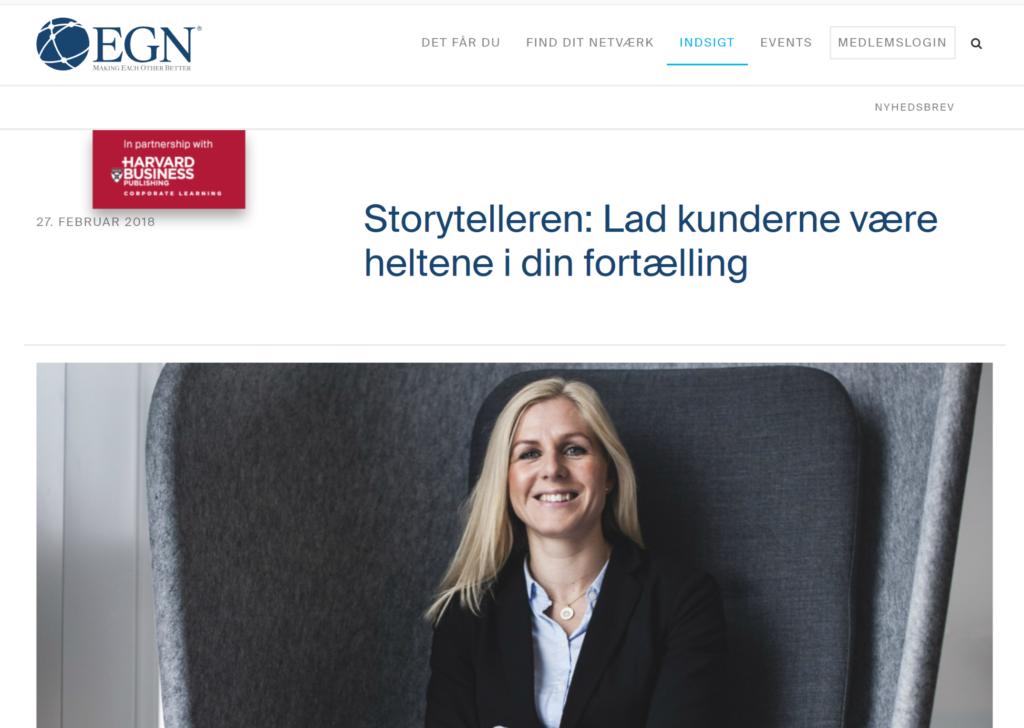 EGN - Storytelling, Helle Rosendahl