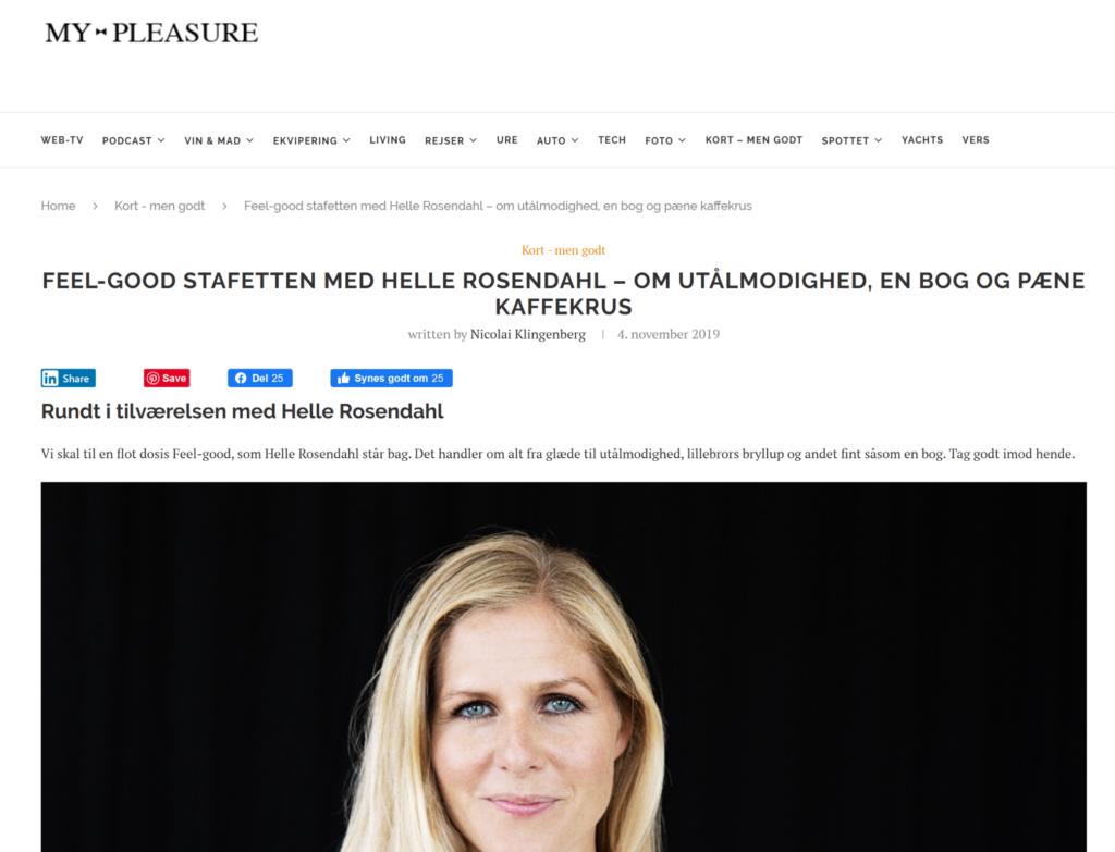 My Pleasure - feel good med Helle Rosendahl