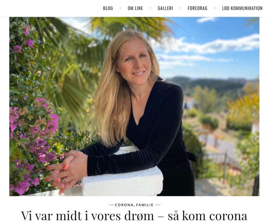 Helle Rosendahl - line portræt