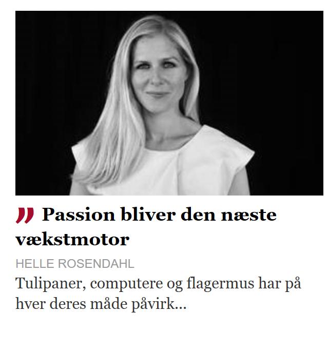 Finans.dk klumme om passion - Storytelling Akademiet