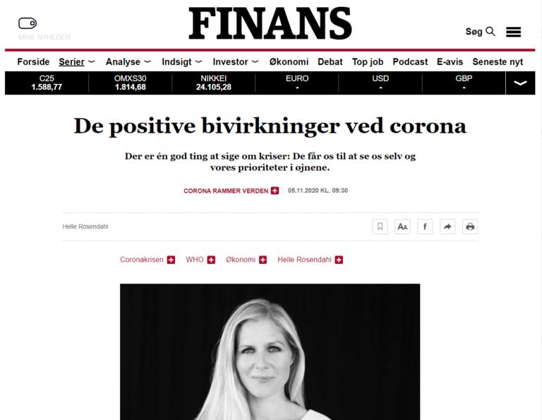 Finans - Storytelling Akademiet - de positive bivirkninger ved Corona