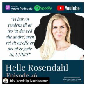 Bliv Kvindelig Iværksætter - podcast, Helle Rosendahl